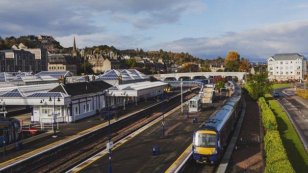Scotland, Edinburgh, Sterling, Train, The Scenery, Rail
