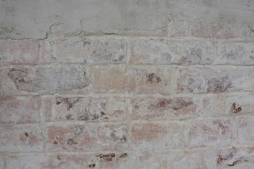 Brick, Whitewashed, Wall, Stone Wall, Texture