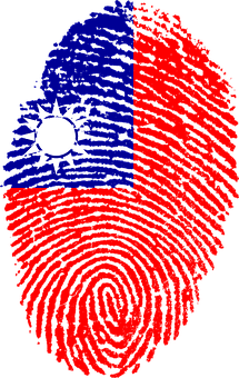 Taiwan, Flag, Fingerprint, Country, Pride, Identity