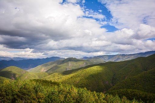 Blue Sky, White Cloud, Mountain, The Scenery
