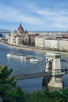 Budapest, Bridge, Water, Architecture, Chain Bridge