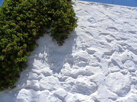 Island, Santorini, Greece, Sea, White Wall