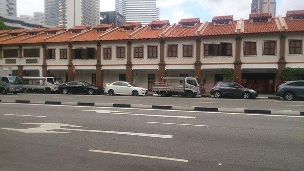 Singapore, Building, Shophouse, Landmark, Asian