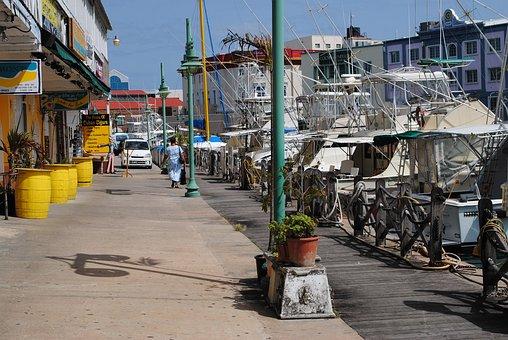 Bridgetown, Barbados, Holiday, Summer, Boats, Shops