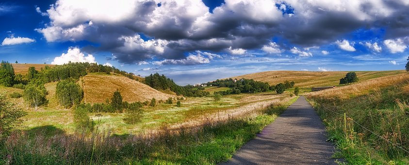 Moldava, Cínovec, Panorama, Landscape, Path