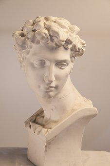 Plaster, Classical, Photography, Bust, Art, Greek, Male