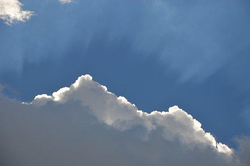 Sky, Blue, Clous, Sunbeam