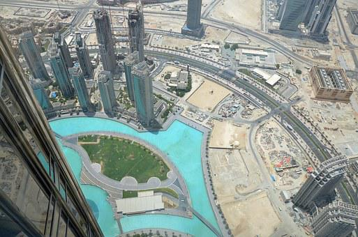 Dubai, Aerial View, Skyscraper, Skyscrapers