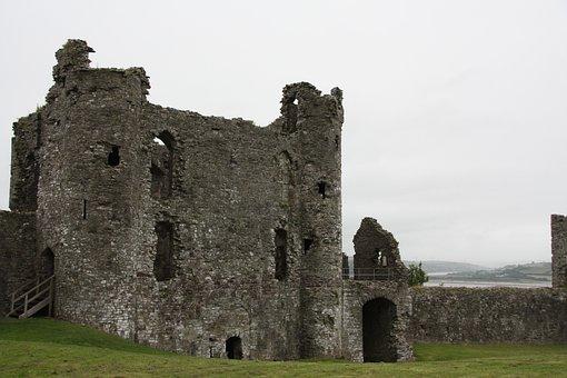 Wales, Castle, Runine, United Kingdom, Fortress