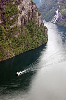 Geirangerfjord, Norway, Post Ship Route, Cruise Ship