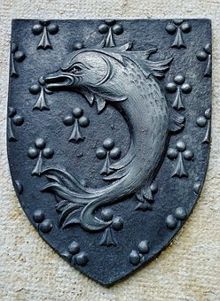 Coat Of Arms, Iron, Pérouges, Village, Good Looking
