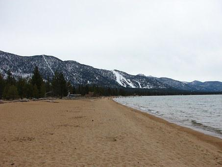 Lake Tahoe, Beach, Lake, Tahoe, Water, Vacation