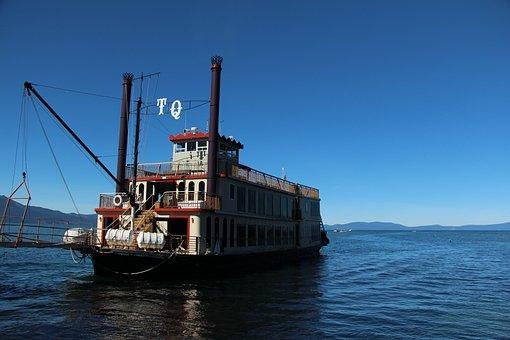 Tahoe Queen, Lake Tahoe, Lake View, Boat, Water, Tahoe
