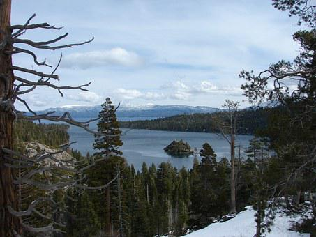 Lake Tahoe, Tahoe, Lake, Water, Blue, Trees, Sky