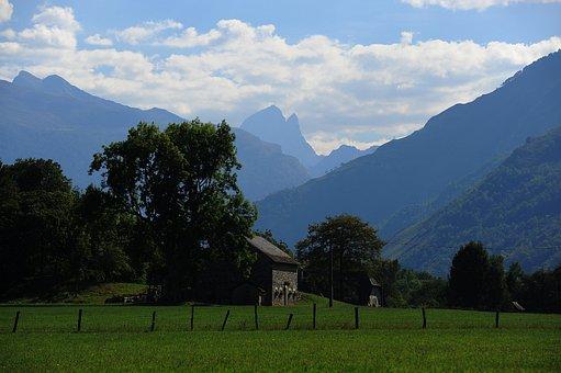 Mountain, Ossau, Valley Ossau, Landscape
