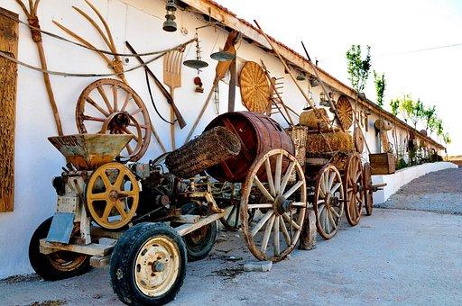 Nevşehir, Hacıbekta Parents, Tools, Boxcar, Old, Wheels