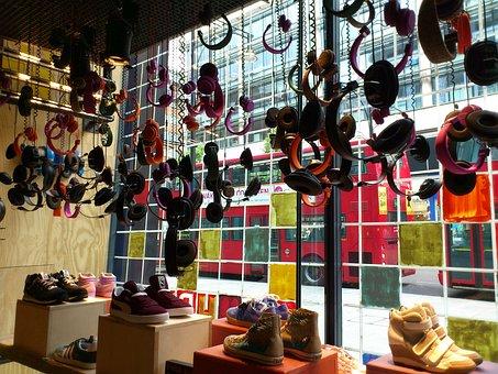 London, Oxford Street, Headphones, Window, Colorful