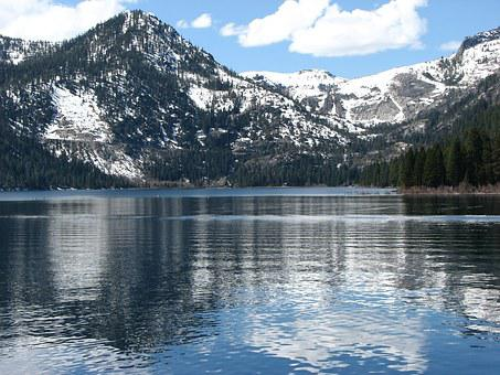 Lake Tahoe, Reflection, Water, Mountain