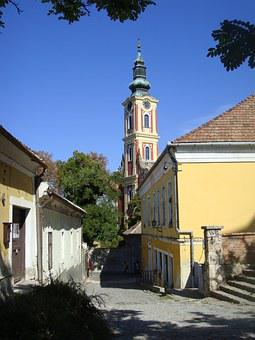 Szentendre, Belgrade Cathedral, Steeple, Alley, Tower