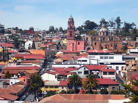 Town, Mexico, Rural, Village, Buildings, Architecture