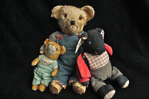 Teddy Bear, Old Toy, Teddy, Vintage, Bear, Old, Toy