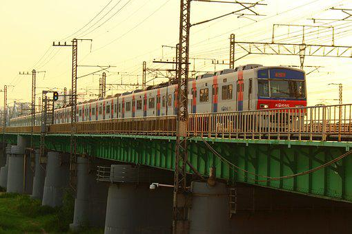 Train, Subway, Han River, Bridge