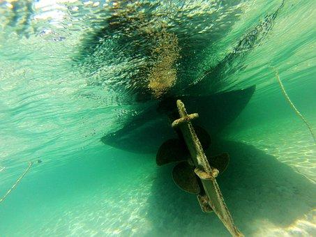 Sea, Water, Underwater, Ocean, Diving, Ship, Diver