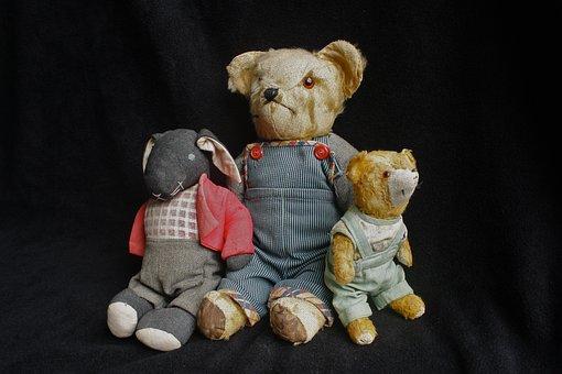 Teddy, Old Toys, Vintage, Old, Toy, Bear, Retro