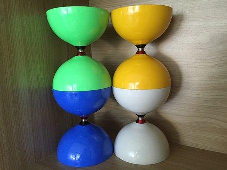 Diabolo, Triple-bearing, Taibolo, Axle, Two Cups