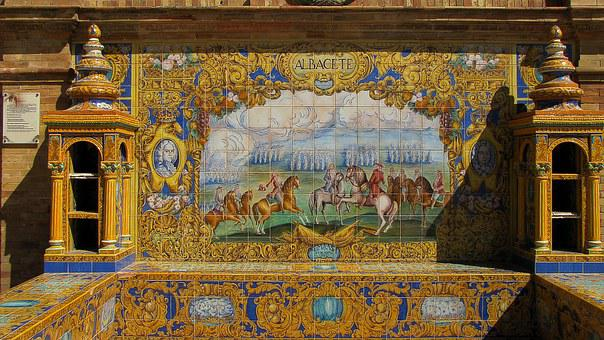 Sevilla, Azulejos, Decorative Plates, Ceramic Tile