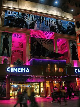 Building, Cinema, Leicester, Square, Evening, London
