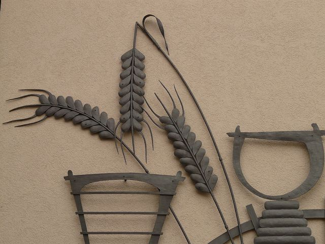 Grain, Ear, Cereals, Wheat, Mural, Metal, Image, Bauer