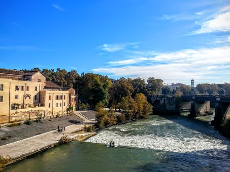 Rome, Italy, Water, City, On The Road, Tourism, Old