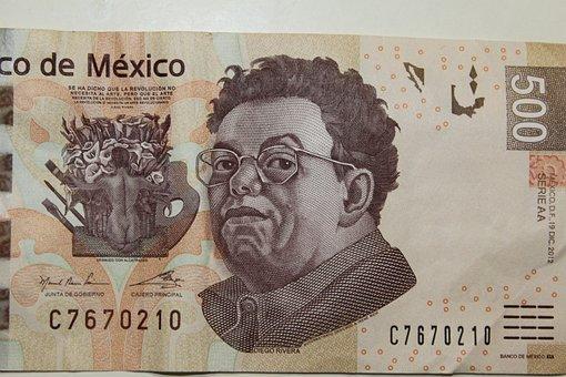 Money, Dinero, Peso, Currency, Cash, Mexican, 500, Mxn