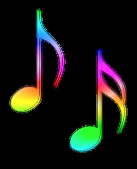Note, Scores, Eight, Semiquaver, Music, Colored