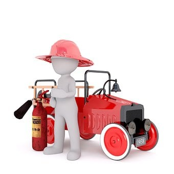 Fire Fighter, Fighter, Fire Extinguisher, Action