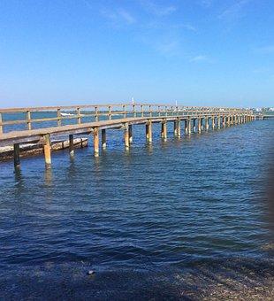 Wooden Bridge, River, Key, West, Florida