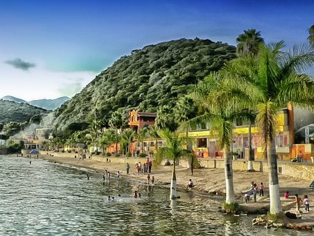 Chapala Lake, Mexico, Mountains, Landscape, Scenic, Hdr