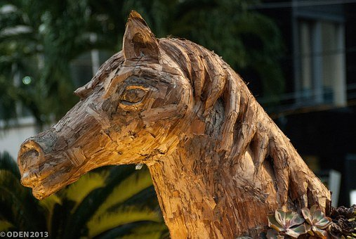 Horse, Crafted, Troyan, Horse Head, Animal, Wooden