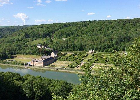 Belgium, Wallonie, Maastal, Castle, Park