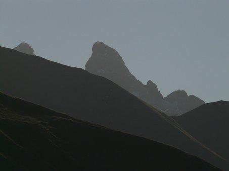 Mountains, Mountain Panorama, Panorama, Trettachspitze