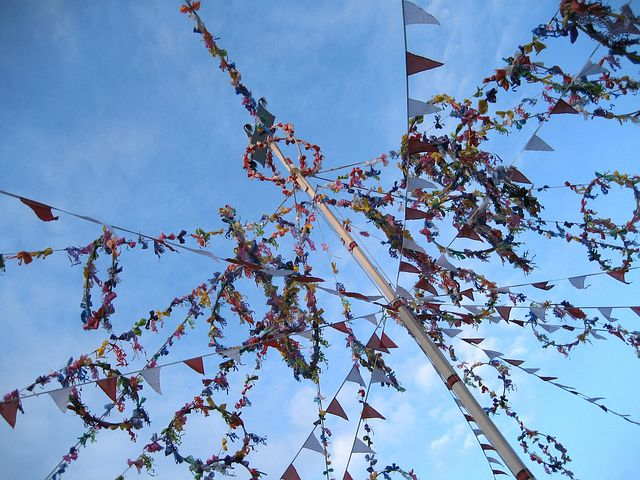 Padstow, May Pole, May Day, Old 'oss, May