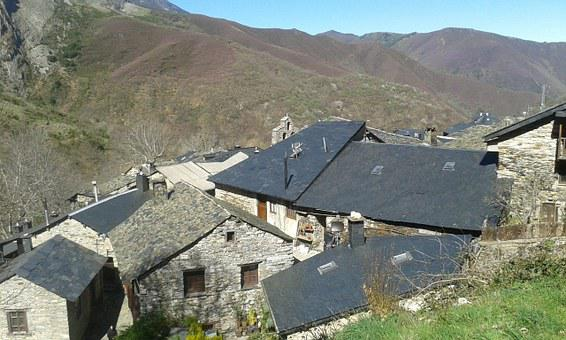 Bierzo, People, Village, Ceilings, Cottages, Mountains