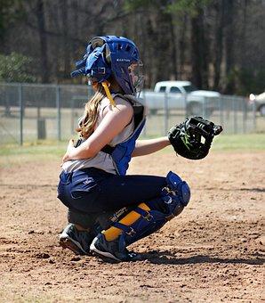 Catcher, Softball, Sports, Glove, Player, Field