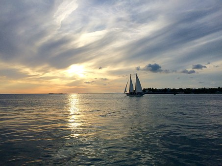 Key West, Sunset Celebration, Florida, Usa, Water, Sea