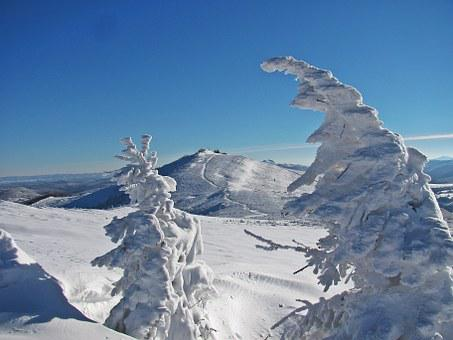 Mountains, Winter, Trail, Hiking Trails, Tourism