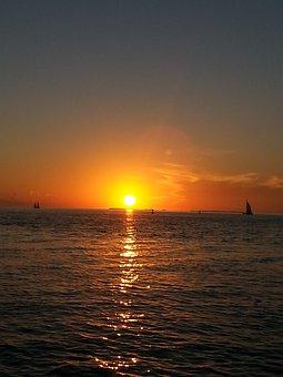 Key West, Sunset, Florida, Ocean, Tranquil, Destination