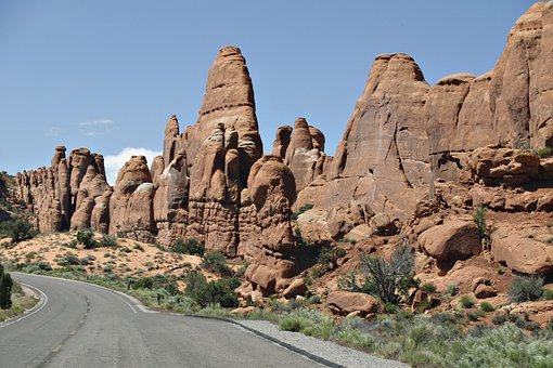 Devil's Garden, Rocks, Utah, Usa, Arches National Park