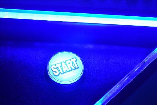 Beginning, Play, Videogame, Arcade, Games, Arcades