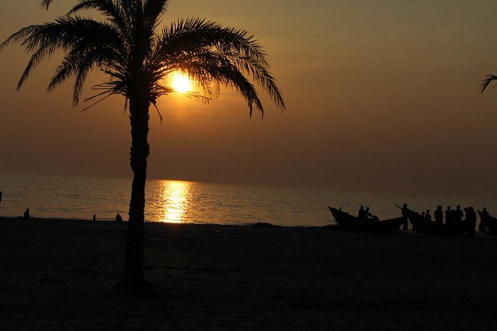 Sunset, Sea, Beach, Kuakata, Bangladesh